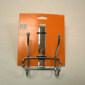 085-03-0013 Over The Door 2 Hook Coat Hat  Rail Chrome