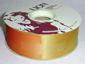 "Large Roll of Lion 1 3/8"" Acetate Ribbon Harvest Orange 50 Yards"