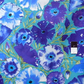 Dena Designs PWDF135 The Painted Garden Azalea Peacock Fabric 1 7/8 Yard