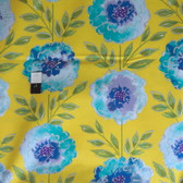 Dena Designs PWDF137 The Painted Garden Rose Yellow Fabric By The Yard