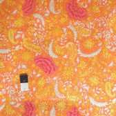 Dena Designs PWDF139 The Painted Garden Blossom Yellow Fabric By The Yard
