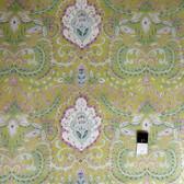 Dena Designs PWDF166 Tangier IKAT Vine Aqua Fabric By TheYard