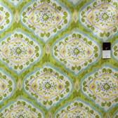 Dena Designs PWDF169 Tangier IKAT Medallion Aqua Fabric By TheYard