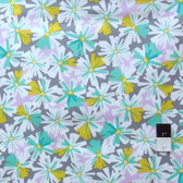 Erin McMorris PWEM037 LaDeeDa Oppsy Daisy Aqua Fabric By The Yard