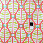Erin McMorris PWEM038 LaDeeDa Buttonwood Coral Fabric By The Yard