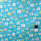 Erin McMorris PWEM039 LaDeeDa Bubbles Aqua Fabric By The Yard