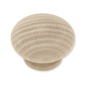 "P10513C-BIR  Birch Wood 1 1/2"" Round Cabinet Drawer Knob LOT OF 10"