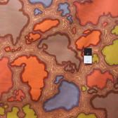 Kaffe Fassett GP102 Map Brown Cotton Fabric By The Yard