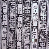 African Print T-2008 Black & White Cotton Fabric By The Yard