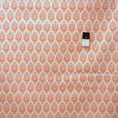 Dena Designs LIDF002 Sunshine Ornament Orange Linen Fabric By Yard