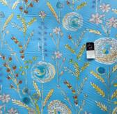 Dena Designs PWDF122 London Summerset Blue Fabric By Yard