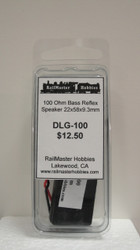 DLG-100 Rail Master / Speaker 22 X 58 X 9.3 MM 100 Ohm (Scale=HO) Part # = RMT-DLG-100