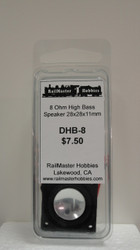 DHB-8 Rail Master / Speaker 28 x 28 x 11.2 mm 8 Ohm (Scale=HO) Part # = RMT-DHB8