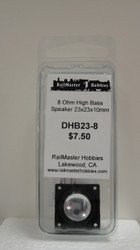 DHB23-8 Rail Master / Speaker 23 x 23 x 10 mm 8 Ohm (Scale=HO) Part # = RMT-DHB23-8