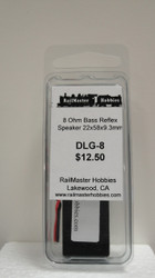 DLG-8 Rail Master / Speaker 22 X 58 X 9.3 MM 8 Ohm (Scale=HO) Part # = RMT-DLG-8