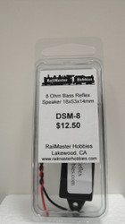 DSM-8 Rail Master / Speaker 18 X 53 X 14.3 MM 8 Ohm (Scale=HO) Part # = RMT-DSM-8