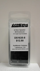 DS1635-8 Rail Master / Speaker 17.7 x 37.45 x 14.5 mm 8 Ohm (Scale=HO) Part # = RMT-DS1635-8