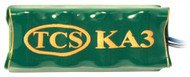 TCS KA3 SKU 2000 The Keep-Alive™ (KA) devices are used to supply power to decoders during times of power interruption due to dirty track or problematic track work.
