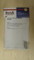 Digitrax / Gray Terminal Plug  (Scale = ALL)  Part # 245-TERMPLUG