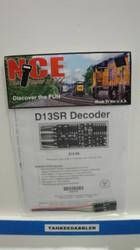 NCE /  D13SR DCC Control Decoder 1.3 Amp - S (SCALE=HO) Part # = 524-100
