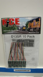 (HO Scale)  NCE 524-121  D13SR DCC Control Decoder 10-Pack 1.3