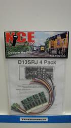 NCE /  D13SRJ DCC Control Decoder 1.3 Amp - (SCALE=HO) Part # = 524-125