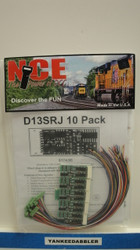 (ALL SCALES)  NCE 524-145  D13SRJ 6-Function Control Decoder 1