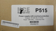 (ALL SCALES)  NCE 524-215  P515 Power Supply -- 15V AC, 5 Amps
