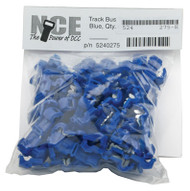 275 NCE /  Track Bus Taps -- Blue pkg(64) ACCE (SCALE=ALL) Part # = 524-275