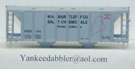 (HO Scale) Yankee Dabbler-67-20101 W.H.Shurtleff Co    Salt-Chemical 70 Ton 2-Bay Cvrd Hopper 20101   144