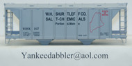 (HO Scale) Yankee Dabbler-67-20102 W.H.Shurtleff Co    Salt-Chemical 70 Ton 2-Bay Cvrd Hopper 20102   167