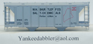 (HO Scale) Yankee Dabbler-67-20103 W.H.Shurtleff Co    Salt-Chemical 70 Ton 2-Bay Cvrd Hopper 20103   171