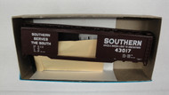 480-5 (HO SCALE) Bev-Bel-66-480-5 Southern Railway 50  Steel Double Door Boxcar 43017