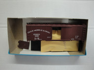(HO SCALE) Bev-Bel-66-1487 Gulf Mobile and Ohio 40  Single Door Boxcar GM and O 5462