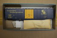 "1933-1 (HO SCALE) Bev-Bel-66-1933-1 Chesapeake and Ohio ""Cushion Underframe""  Dark Blue and Silver..."