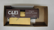 (HO SCALE) Bev-Bel-66-1935 Chicago and Eastern Illinois 40  Single Door Boxcar C and EI 2568