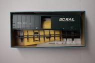 2247 (HO SCALE) Bev-Bel-66-2247 British Columbia Railway 50  Steel Single Door Boxcar BCOL 5573