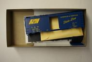 2398-1 (HO SCALE) Bev-Bel-66-2398-1 Louisville and Nashville 40  Steel Single Door Boxcar L and N 46753
