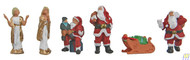 (HO Scale) WAL-949-6031        Christmas Figures 6/