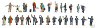 (HO Scale) WAL-949-6032        Travelers on Platform 26/