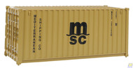 (HO Scale) WAL-949-8057        20' RS Cont MSC Brn