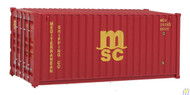 (HO Scale) WAL-949-8059        20' RS Cont MSC Red