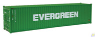 (HO Scale) WAL-949-8258        40' HC RS Cont Evergreen