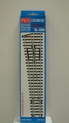 Peco / SL-E89 Code 100 Left-Hand Large Radius Electrofrog Turnout (SCALE=HO ) P Part # PCO-SL-E89