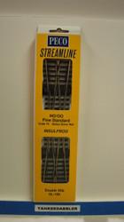 SL-E190 Peco / SL-E190 Code 75 Double Slip Electrofrog Turnout (SCALE=HO ) P Part # PCO-SL-E190