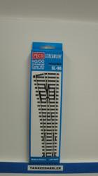 (SCALE=HO ) Peco-PCO-SL-96 HO Code 100 Left-Hand Medium Radius Insulfrog Turnout