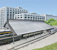(HO Scale) WAL-933-2984        Train Shed w/Clear Roof