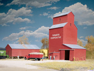 (HO Scale) WAL-933-3036        Grain Elevtr Farmers COOP