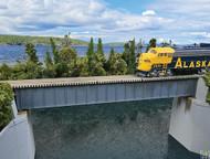 (HO Scale) WAL-933-4508        90' Sgl Trk Deck Grd Brg