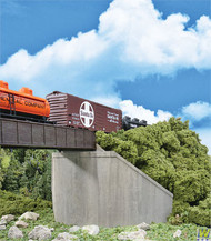 (HO Scale) WAL-933-4551        Sngl-Trk Cncrt Abtmnts 2/